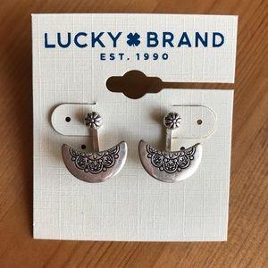 Lucky Brand Silver Ear Jacket Earrings